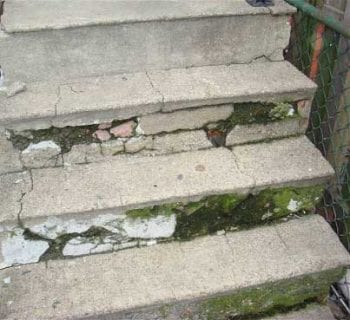 How to repair cracked concrete steps page 2 of 2 how - Resurfacing exterior concrete stairs ...