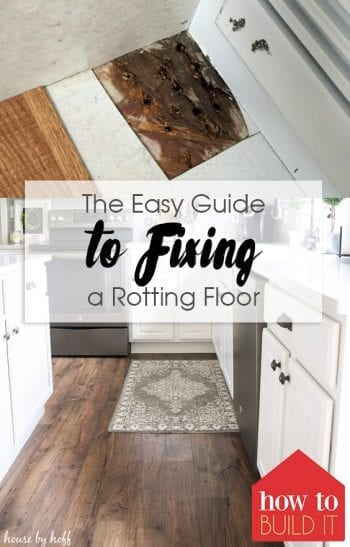 The Easy Guide to Fixing a Rotting Floor| Flooring Fixes, How to Fix Flooring, Quick Ways to Fix Flooring, How to Fix Areas of Wood Rot, Floor Care #HomeRepair #DIYHomeRepair