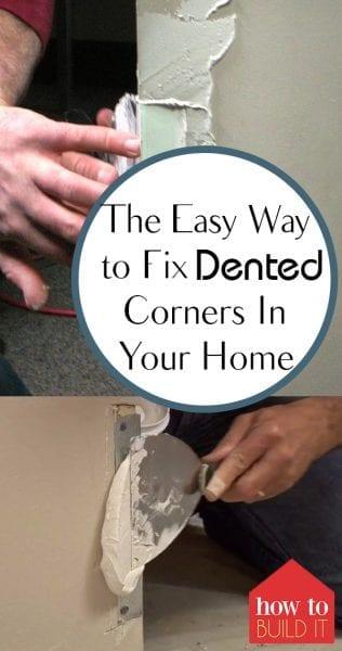 Fix Dented Corners, Home Improvement, Home Improvement Hacks, DIY Home, DIY Home Decor, Home Decor Ideas, Home Decor Tips and Tricks