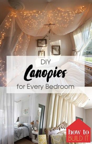 DIY Canopies, DIY Canopy, DIY Canopy Easy, DIY Home Decor, Home Decor, DIY Room Decor, Room Decor Ideas, Popular Pin