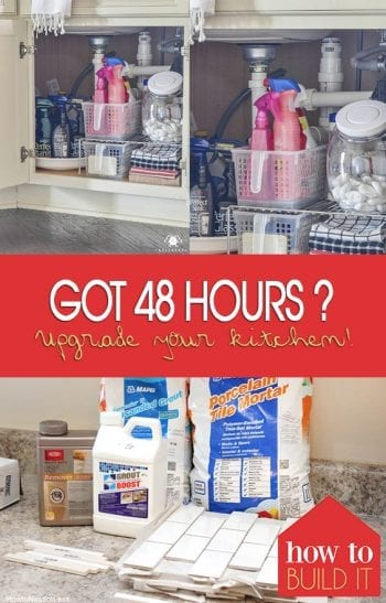 Got 48 Hours? Upgrade Your Kitchen! Home Improvement, Home Improvement Projects, DIY Home, DIY Home Improvement, Home Improvement Hacks, DIY Home Stuff, Popular Pin #HomeImprovement #Kitchen