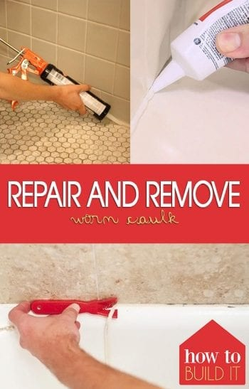 Repair and Remove Worn Caulk| Replace Caulk, How to Remove Caulk, Home Improvements, Home Improvement Projects, DIY Home, DIY Home Hacks, Fast Home Improvements #HomeImprovements #DIYHome