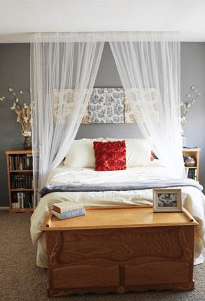 DIY Canopies for Every Bedroom| Canopies, DIY Canopies, Bedroom Decor, Easy Bedroom Decor, DIY Bedroom Decor, Do It Yourself Home, Home Hacks, DIY Home #HomeHacks #BedroomDecor