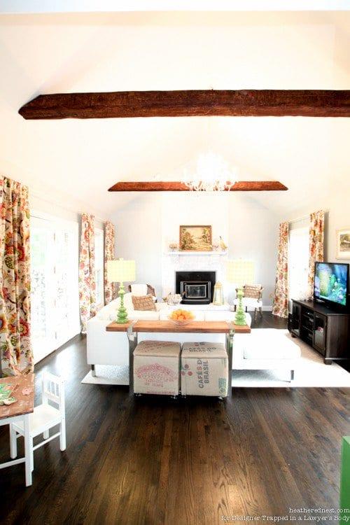 Install Wood Beams, Wooden Beams, Install Wooden Beams, Wooden Beams Kitchen, Wooden Beams In Living Room, Home Decor, Home Decor Ideas, Home Improvement Ideas