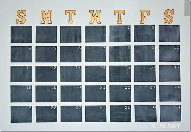 How to Paint a Wall Calendar and Stay Organized All Year Long  Wall Calendar, DIY Wall Calendar, DIY Home, Organization, Home Organization, DIY Organization, Popular Pin #Organization #HomeOrganization