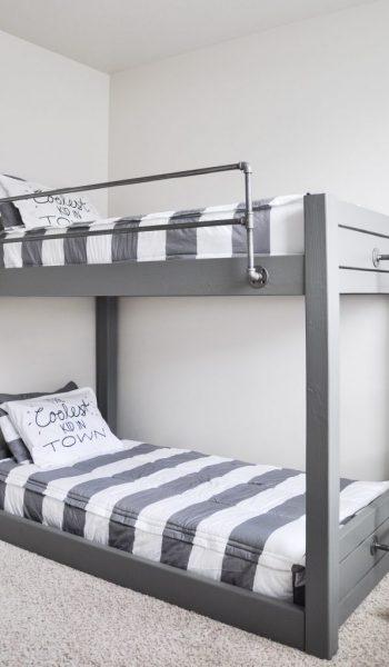 How to Make Your Own DIY Bunk Beds| DIY Bunk Beds, Bunk Beds, Homemade Bunk Beds, DIY Bed, DIY Home Improvements, Home Improvement Hacks, Popular Pin #DIYBunkBeds #BunkBeds