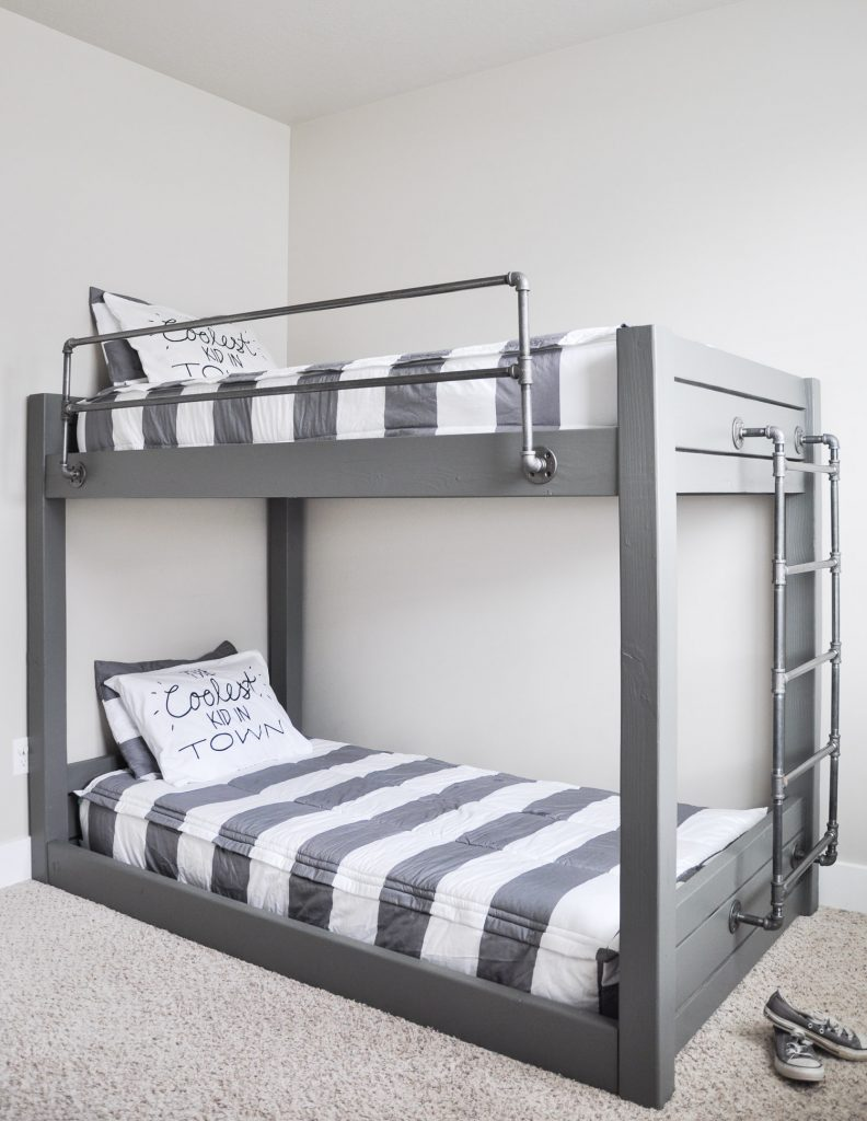 How to Make Your Own DIY Bunk Beds| DIY Bunk Beds, Bunk Beds, Homemade Bunk Beds, DIY Bed, DIY Home Improvements, Home Improvement Hacks, Popular Pin #DIYBunkBeds #BunkBeds