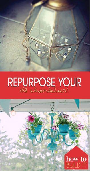 Repurpose Your Old Chandelier!| Chandelier, DIY Chandelier, Ligth Fixtures, Repurpose Projects, DIY Repurpose Projects, Simple Repurpose Projects, Popular Pin #RepurposeProjects #Chandelier