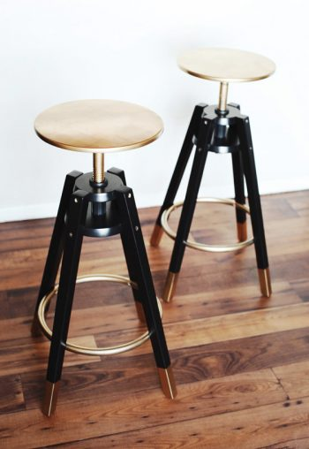 "How to ""Glam"" Up Your Dalfred IKEA Barstools