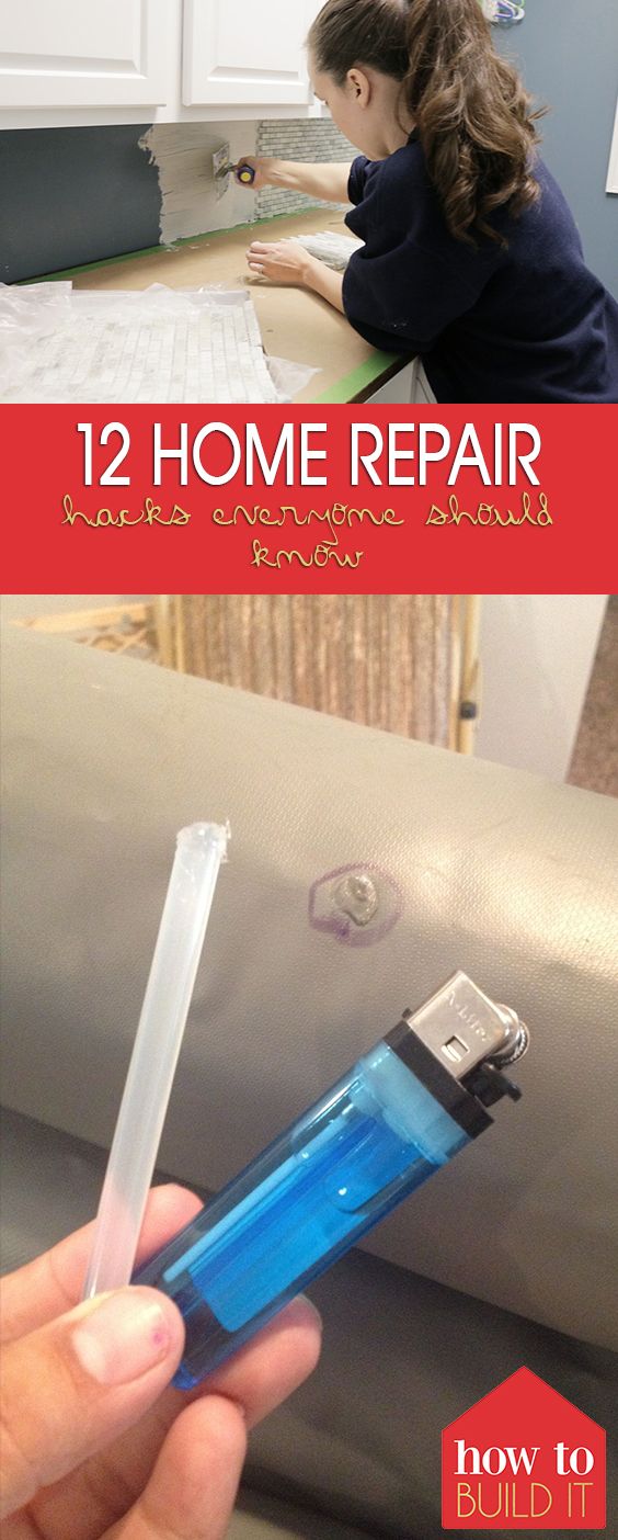 12 Home Repair Hacks Everyone Should Know| Home Repair Hacks, Home Repair, Home Repair DIY, Home Repair on a Budget, Home Repair Hacks, Home Repair Projects
