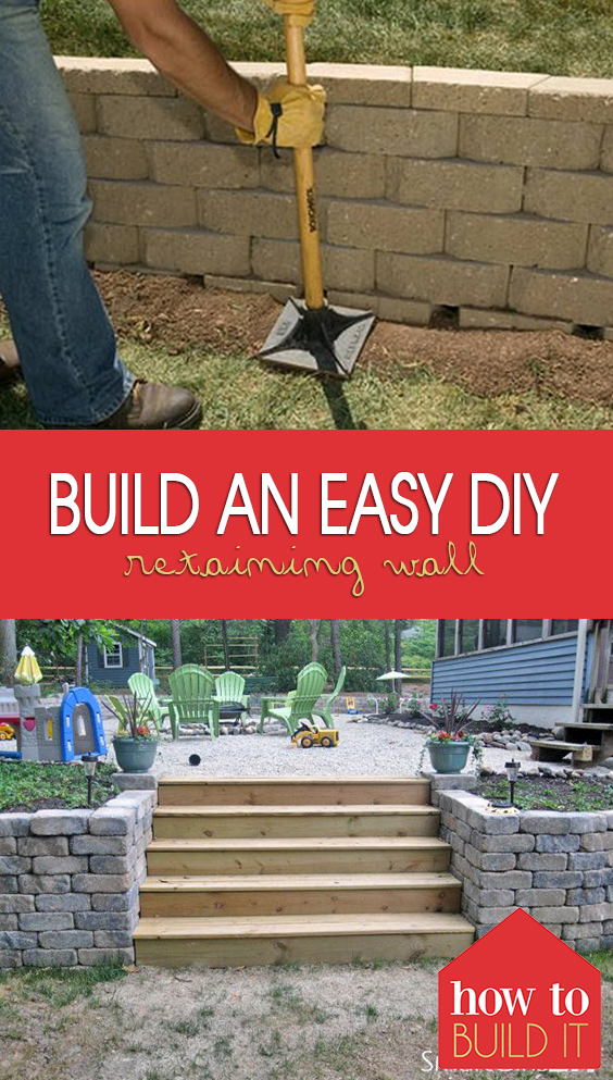 Build an EASY DIY Retaining Wall| Retaining Wall Ideas, Retaining Wall Projects, Retaining Wall Ideas Hillside, Retaining Wall Ideas Cheap, Outdoor DIY, Landscape, Landscaping