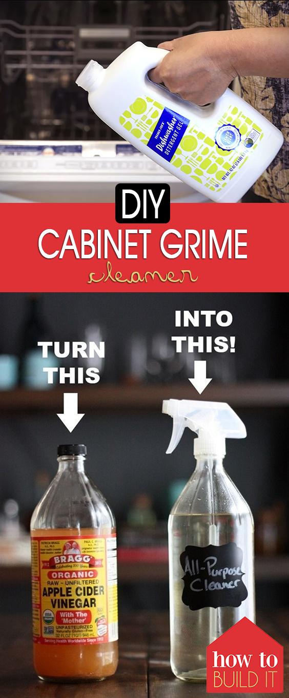 DIY Cabinet Grime Cleaner  Cabinet Grime, Cabinet Grime Cleaner, Cleaning Tips, Cleaning Projects, Cleaners Homemade, DIY Cleaner, DIY Cleaning Products, DIY Cleaning Hacks, DIY Cleaners, DIY Cleaning
