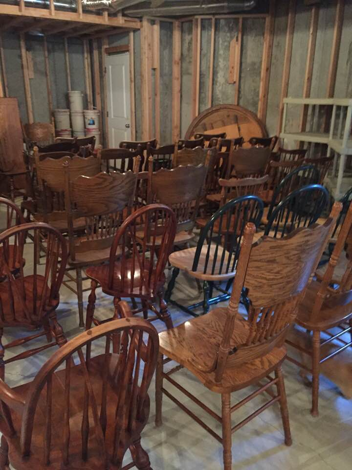 Vintage furniture ready for chalk paint