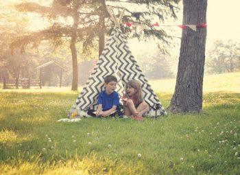 DIY backyard tent ideas for kids