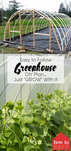 "Easy to Follow DIY Greenhouse Plan... Just ""GROW"" With It | DIY Greenhouse | Greenhouse | Build a Greenhouse | Garden | Greenhouse Gardening"