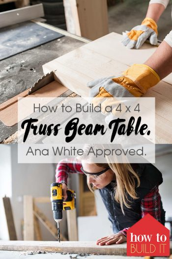 How to Build a 4 x 4 Truss Beam Table. Ana White Approved. | Truss Beam Table | How to Build a Truss Beam Table | DIY Truss Beam Table