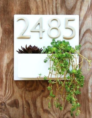 DIY Modern Address Plaques   Modern Address Plaques   DIY Address Plaques   Make Your Own Address Plaque   Curb Appeal   Home Decor