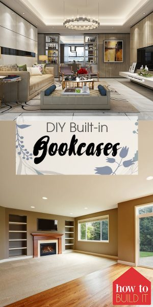 Built-in Bookcases | DIY Built-in Bookcases | How to Build Built-in Bookcases | Bookshelves | DIY Bookcases | Bookcases