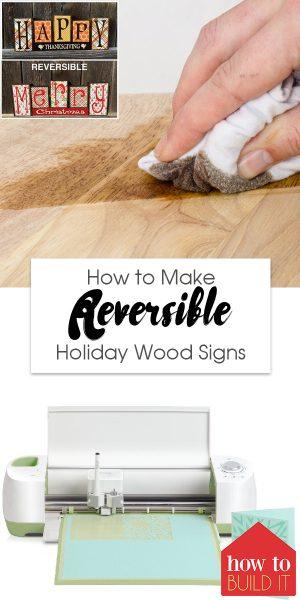 Holiday Wood Signs | DIY Reversible Holiday Wood Signs | DIY Reversible Signs | DIY Holiday Signs | Reversible Holiday Wood Signs