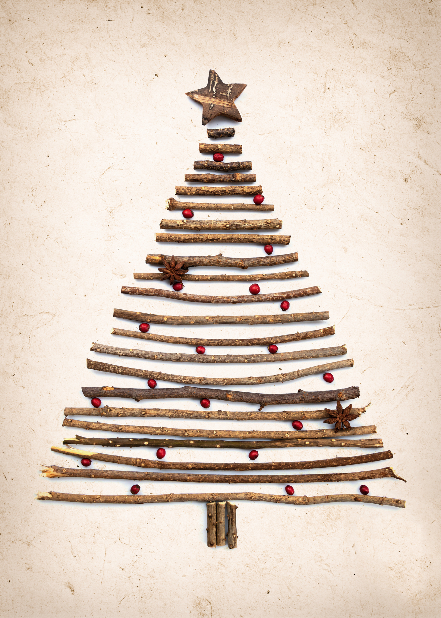 Rustic Christmas Crafts- Christmas tree make with Twigs and small branches
