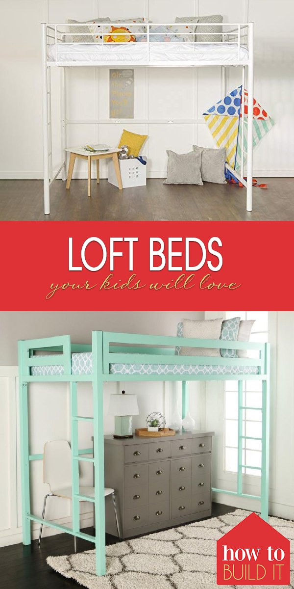 loft beds | loft bed | bed | kids room | bedroom | bedroom storage | bedroom space | space