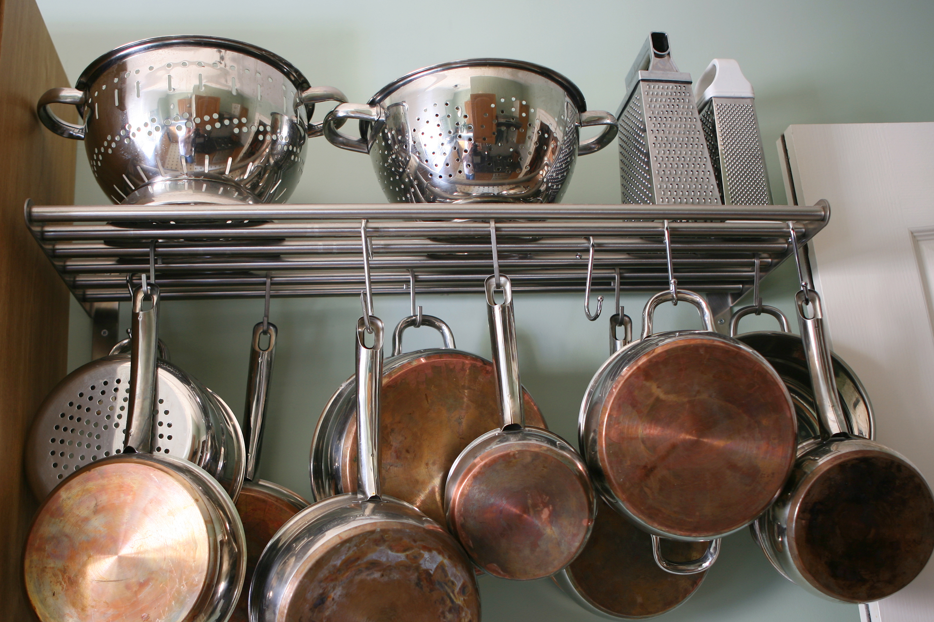 pot rack   diy pot rack   kitchen   space   kitchen space   organization   kitchen organization   design   kitchen design   diy