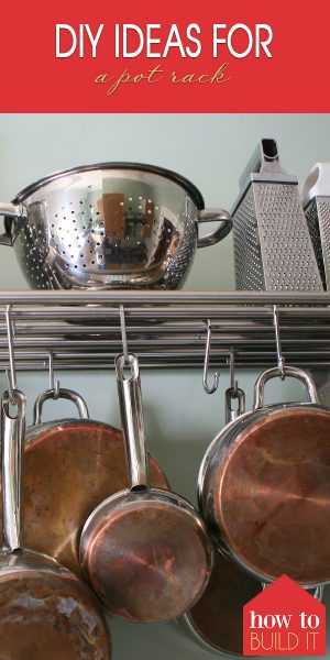 pot rack | diy pot rack | kitchen | space | kitchen space | organization | kitchen organization | design | kitchen design | diy