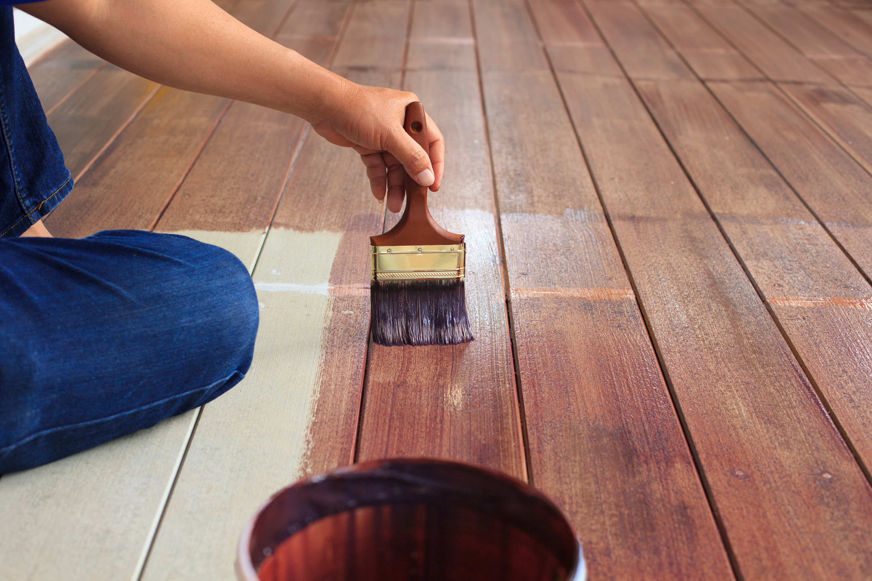deck | stain | paint | deck stain | deck paint | tips and tricks for refinishing a deck | refinish an old deck | how to refinish an old deck