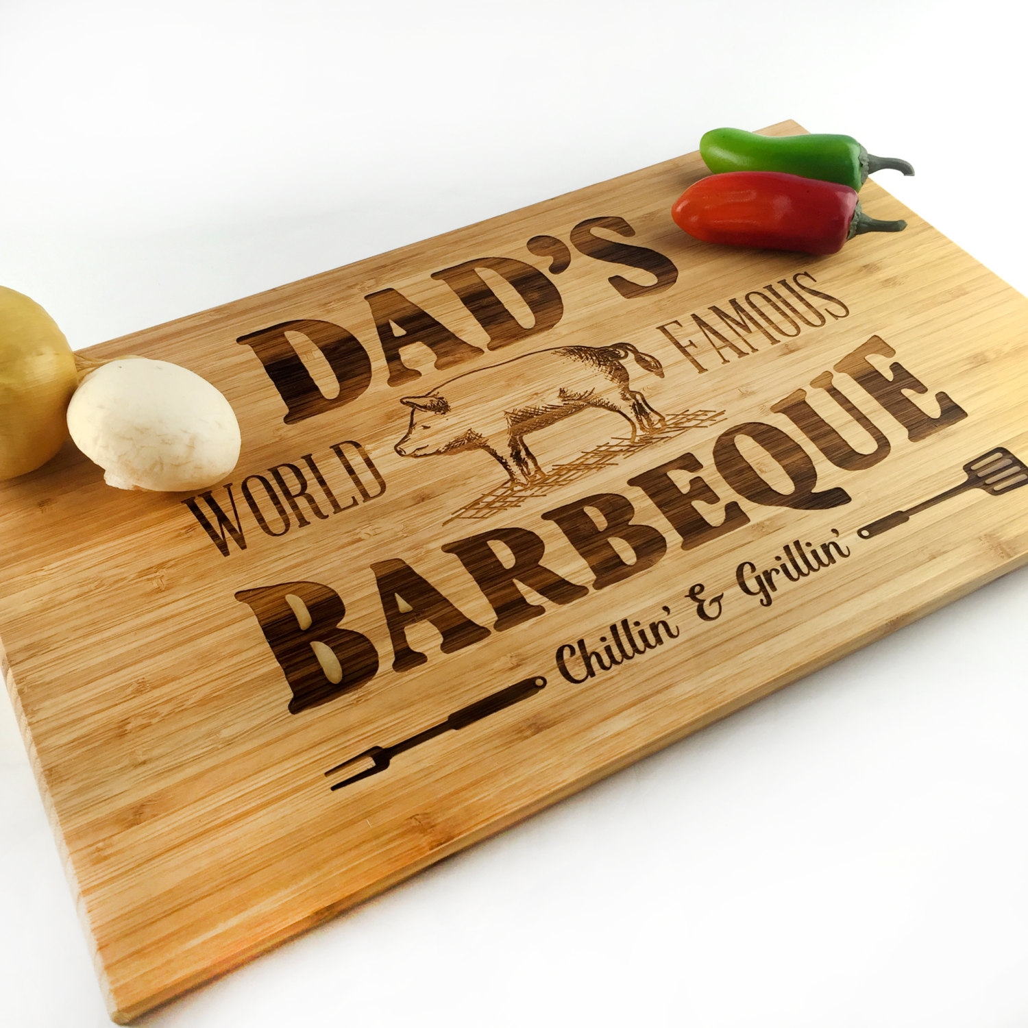 DIY Father's Day Gift made from wood- cutting board