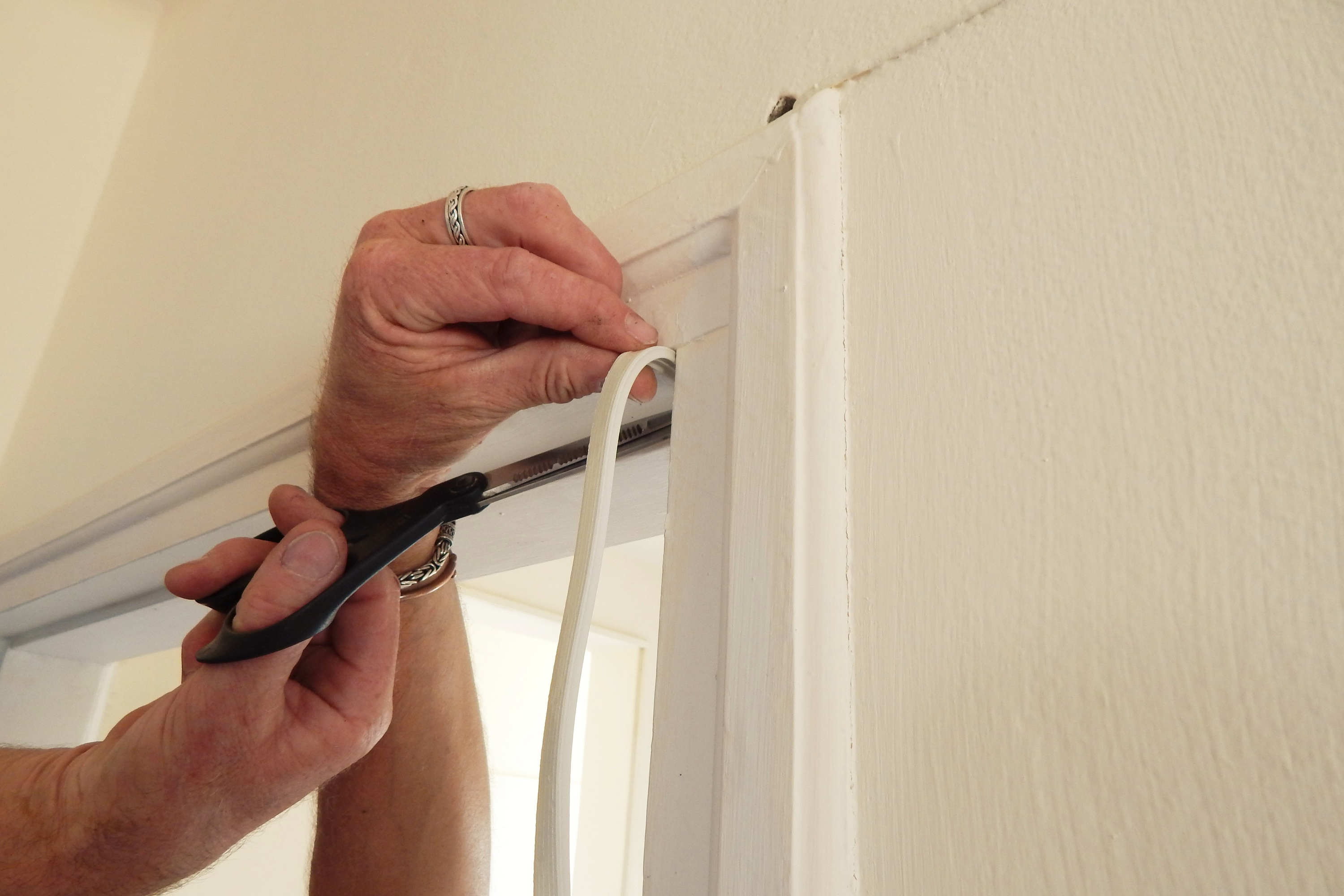 There is nothing worse than letting your home get cold because you have a draft coming from your door. Here are some great ways to prevent door drafts. Try adding some weather stripping to the door.