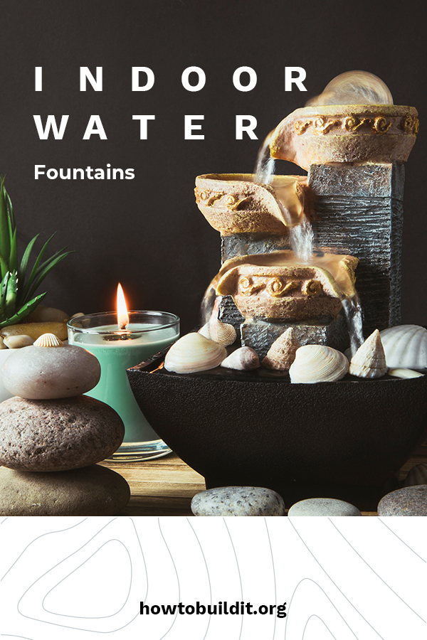 There is nothing as calming as the sound of water. It has been used for centuries to provide a healing environment. If you love the sound of water, and want to bring it into your home, keep reading to learn about indoor water fountains. We talk about DIY ideas, ideas for fountains with plants, and even ideas about an indoor water fountain in your living room. Just the idea makes me want to invite myself over to your place. Read on to learn more. #indoorwaterfountain #indoorwaterfountaindiy