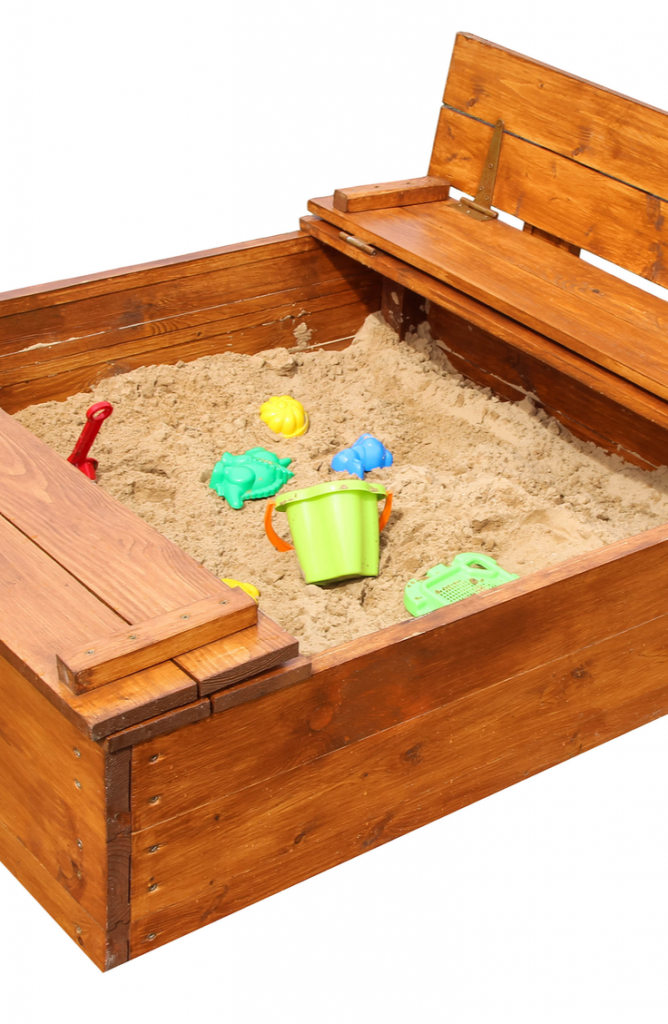 This DIY sandbox with seats for kids is going to SERIOUSLY be a hit! You'll have the entire neighborhood at your house having fun before you know it. Take a look!
