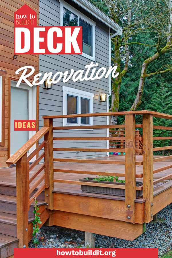 Summer is the perfect time to get your deck into tip top shape! Check out these easy and affordable deck renovation ideas to make your yard look its absolute best. #deck #diy #howtobuilditblog