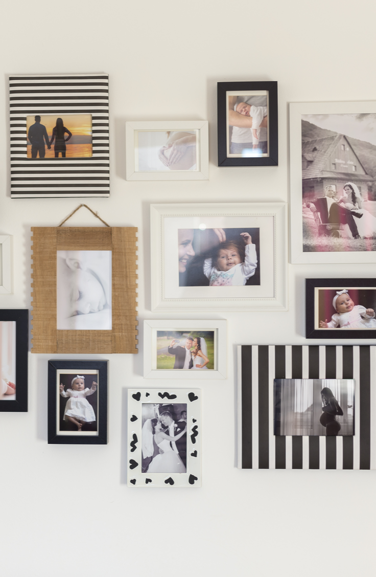 One of my favorite parts of my house is our hanging picture wall. There are tons of pictures dedicated to this one wall and we love looking back on our memories throughout the years. Use this tutorial to make your own picture wall. You will love being able to look back at your memories!