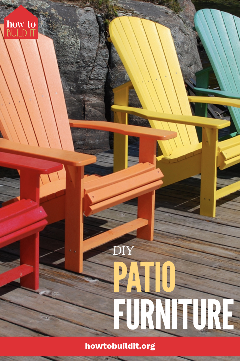 Though it might seem intimidating, just about anyone can make their own outdoor furniture. It's true, all of the tutorials on this list are easy enough for any level of DIYer. Which one will you try first? #patiofurniture #outdoor #howtobuilditblog