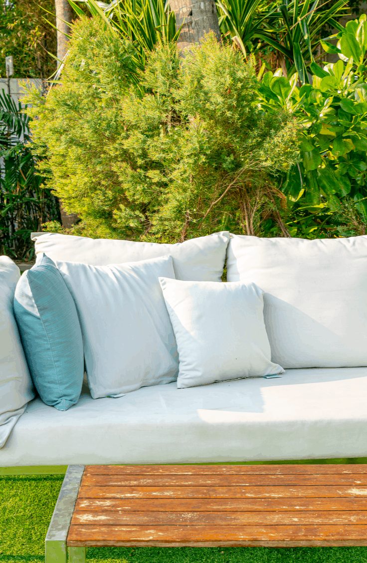 Summer is here so that means a lot of us are spending more time outside. Enjoy your outdoor space a little more with these easy DIY patio furniture tutorials. Having a sectional on your patio will be your new favorite thing!