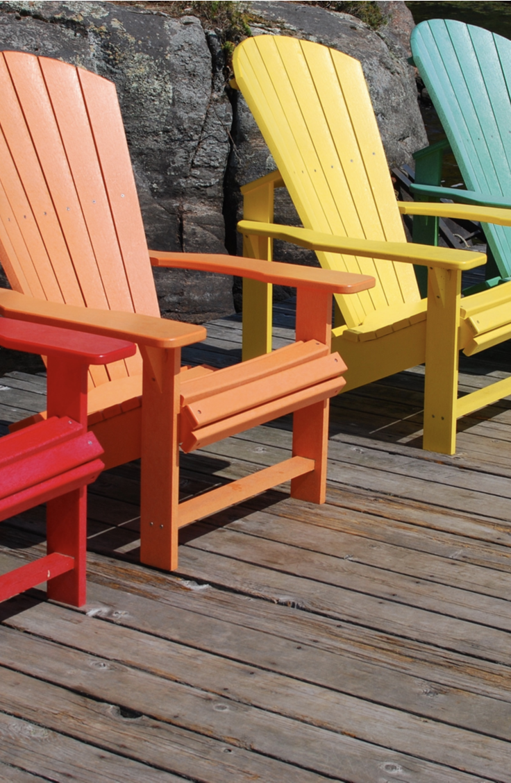 Summer is here so that means a lot of us are spending more time outside. Enjoy your outdoor space a little more with these easy DIY patio furniture tutorials. These Adirondack chairs will look amazing in your backyard!