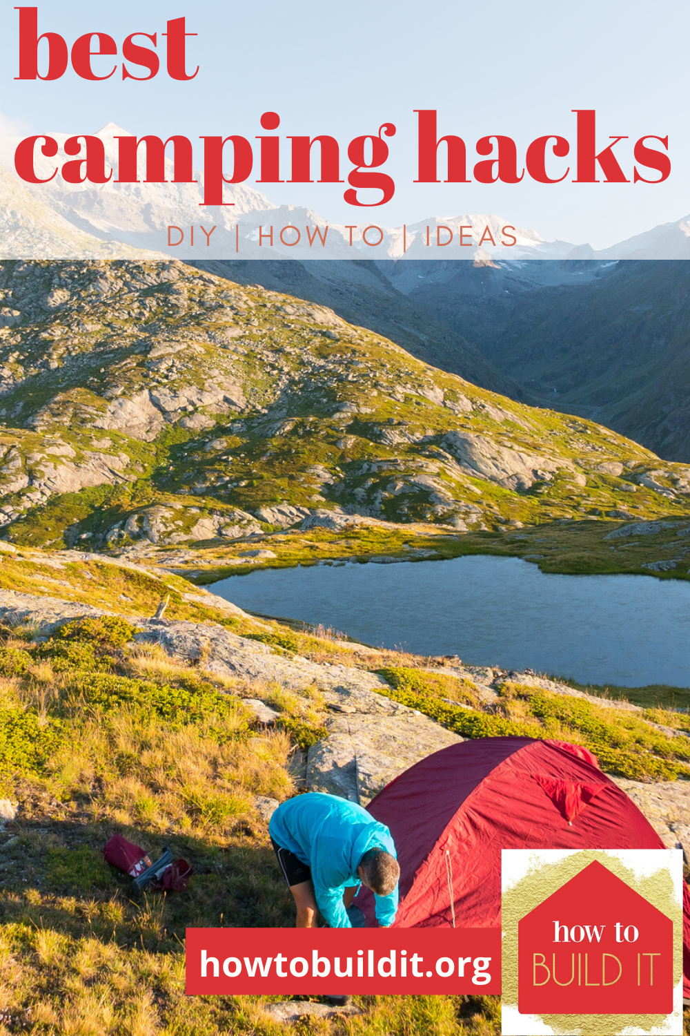 I think more people would camp if they knew a few hacks that made the difficult things easier. Like how to get a good night's sleep on rock hard ground. How to carry your food, etc. If you want to do more camping, and need a little inspo, keep reading. These tips and tricks make being in the outdoors fun. #campinghacks #tipsandtricksforcamping #outdooractivities