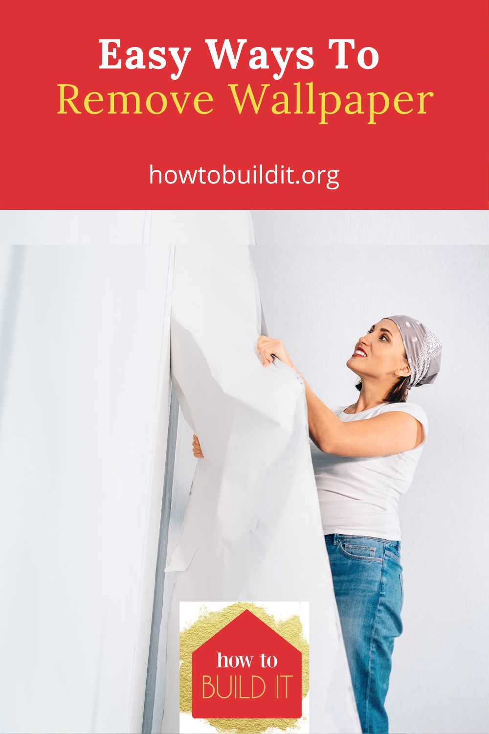 Removing wallpaper can be quite the job. I know because I spent hours of backbreaking work doing it when I bought an old home. If I had only known these tricks back then. If you need to remove wallpaper, wait until you have read this post. Then, things will go much quicker and much easier. #howtoremovewallpaper #tipsforremovingwallpaper #removewallpapereasily