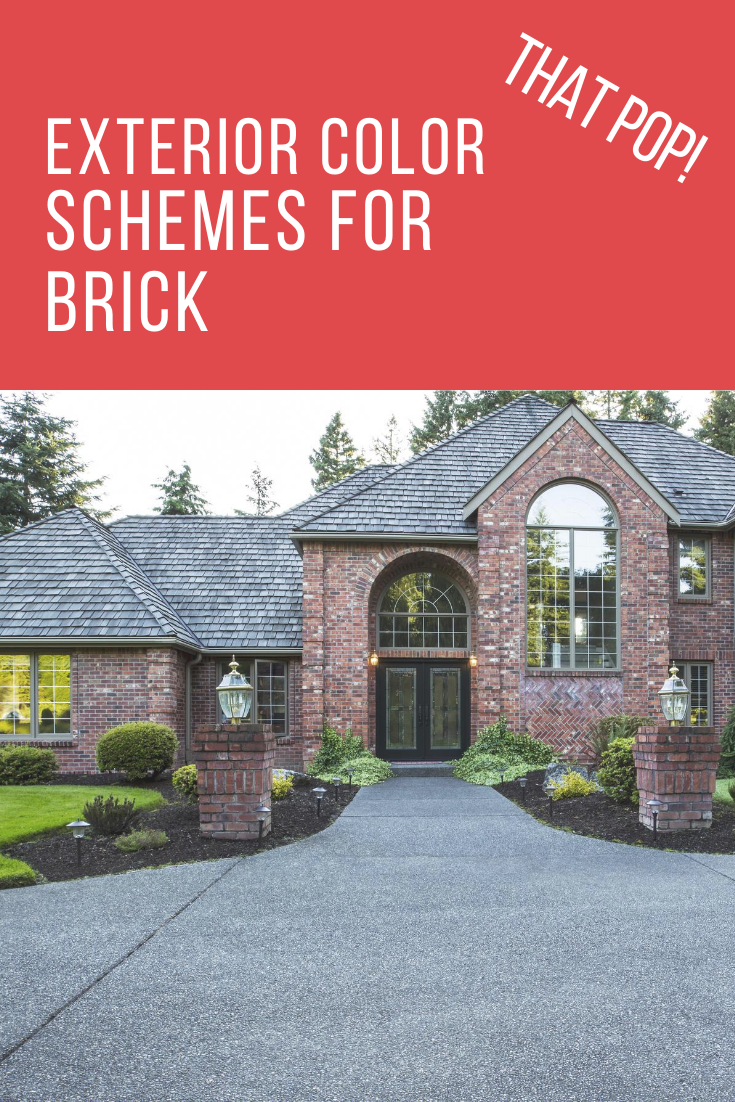 Make your brick home pop with these exterior color schemes. Why fit in when your were born to stand out applies to homes as well. Take a look at these color options that make your home get noticed. #homeexteriors #homecolorschemes #howtobuiditblog