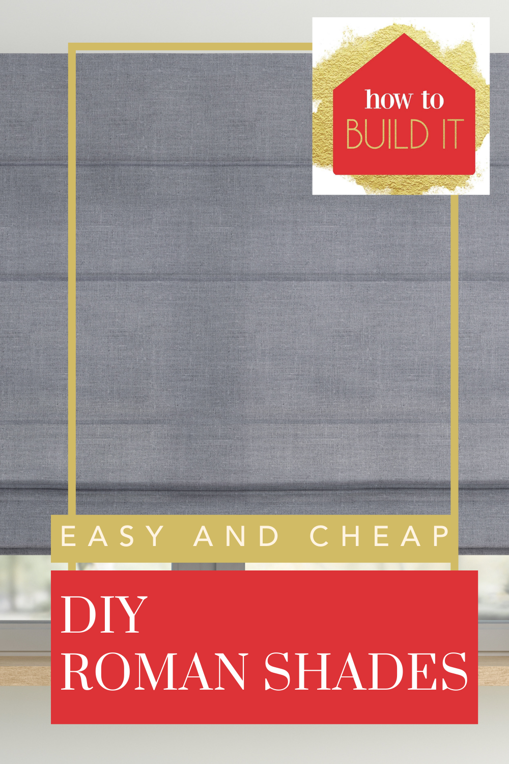 Howtobuildit.org is all about creating the perfect living space with your own hands. Find tons of amazing and easy DIY projects anyone can take on. Create the perfect window treatment for your home with these DIY roman shades.