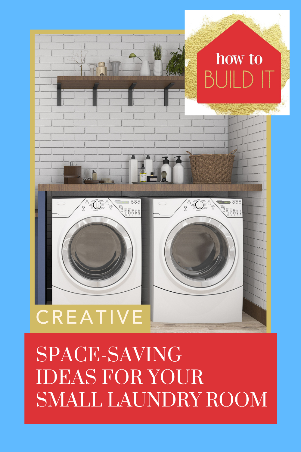 Howtobuildit.org is the place to go for the best DIY and home improvement project ideas! You don't have to have a big space to have big potential! Check out these awesome ideas for a small laundry area.