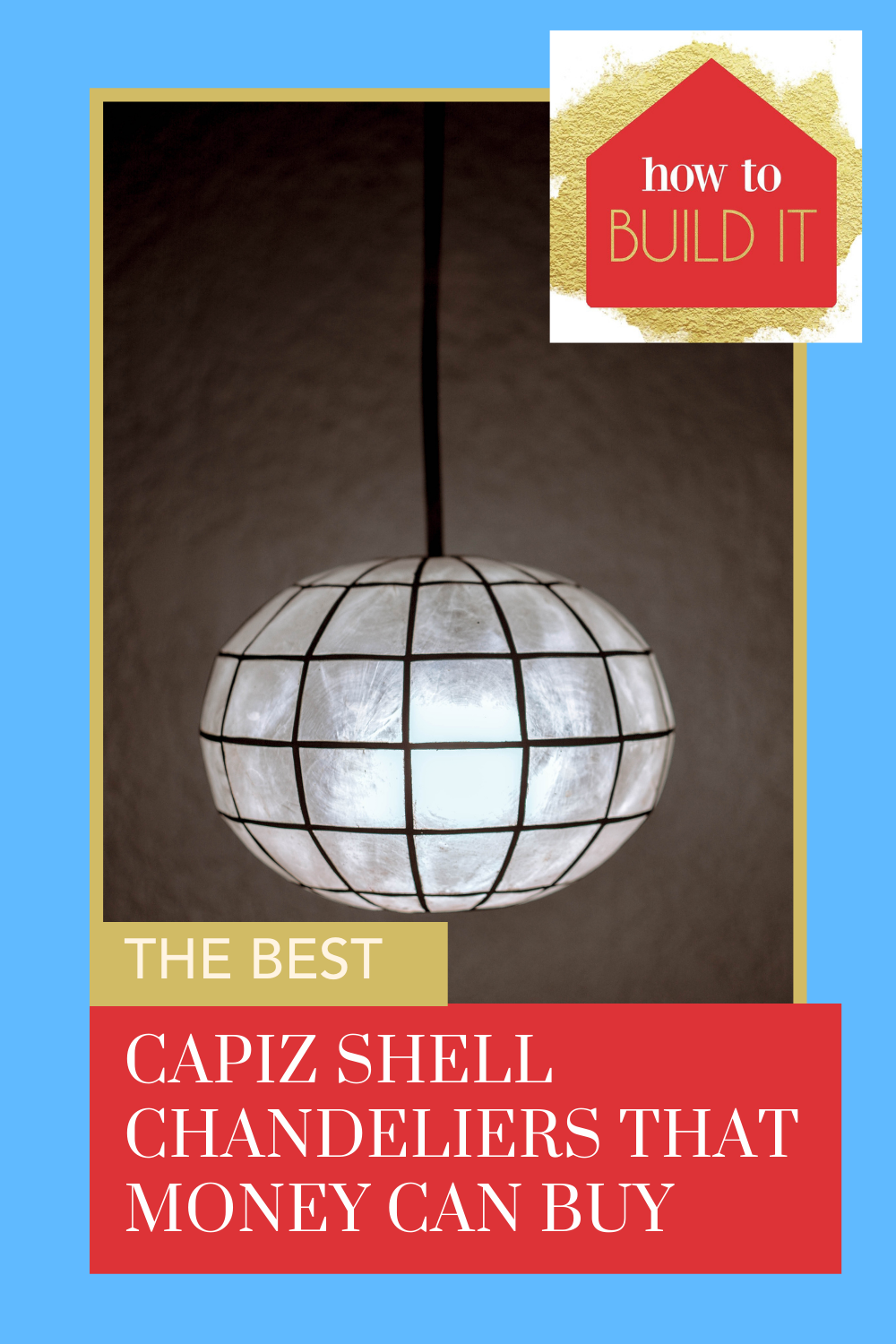 Howtobuildit.org is the place you NEED to look for ideas and inspo for your next DIY or home improvement project! Add the perfect chandelier to your dining area! These capiz shell chandeliers would look in any space.