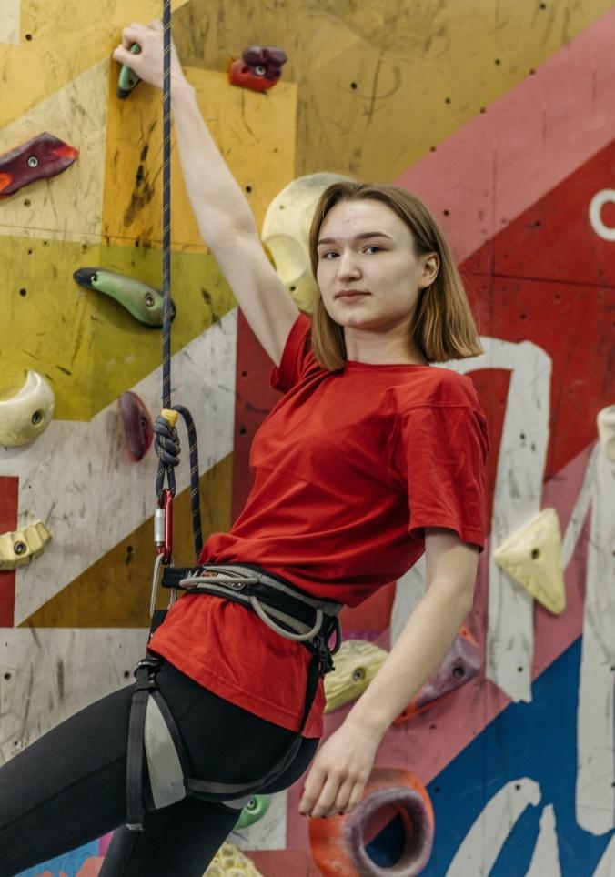 DIY climbing rock wall