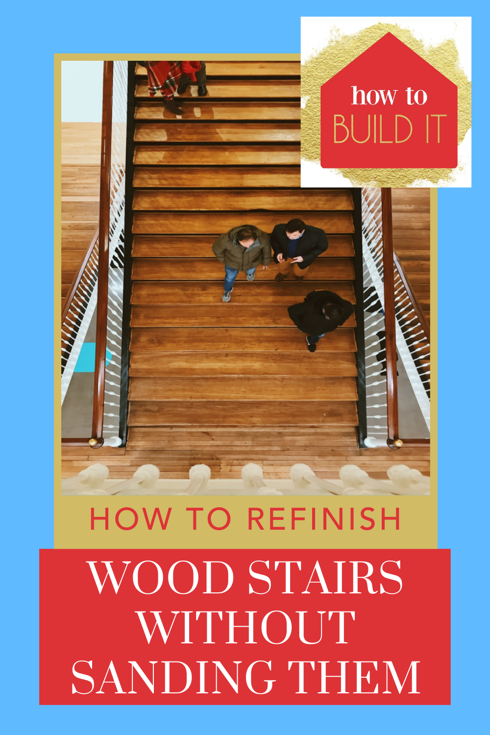 Howtobuildit.org is the ultimate resource for home improvement and DIY projects! Give your stairs a quick and seamless upgrade! Learn how to refinish your wood stairs without sanding them down!