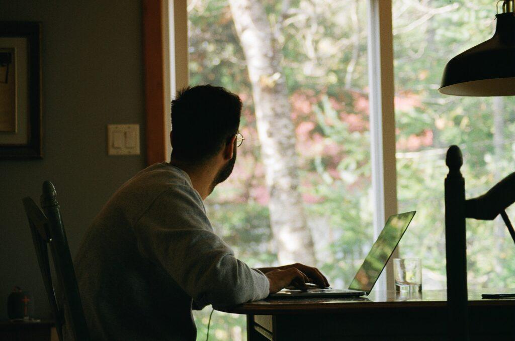 Cloffice Ideas - Man looking out a window